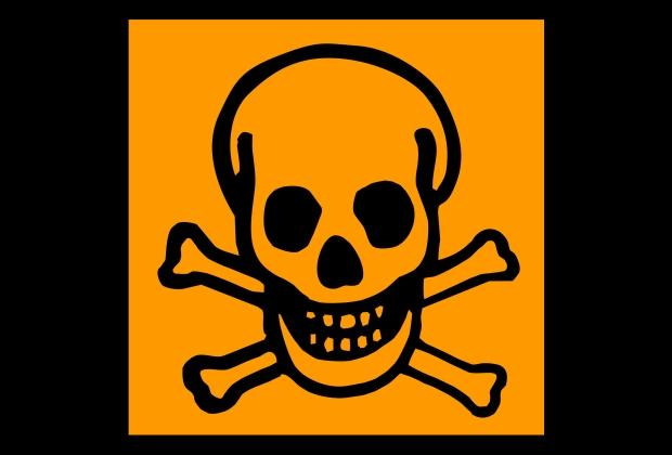 Simbolo Toxico Caveira E Ossos Cruzados