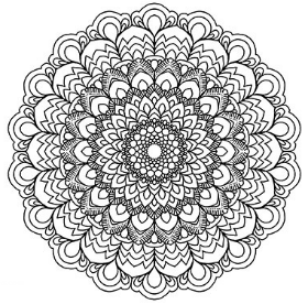 Mandala decoart americana decor in x in mandala stenciladsb the home depot with mandala cool - Mandalas signification formes ...
