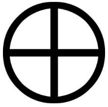 Resultado de imagem para símbolo astronômico da terra
